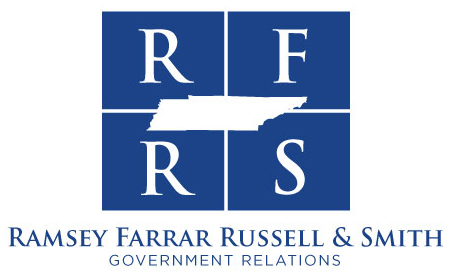 Ramsey, Farrar, Russell & Smith blue logo
